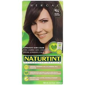 Натуртинт, Permanent Hair Color, 4G Golden Chestnut, 5.6 fl oz (165 ml) отзывы покупателей