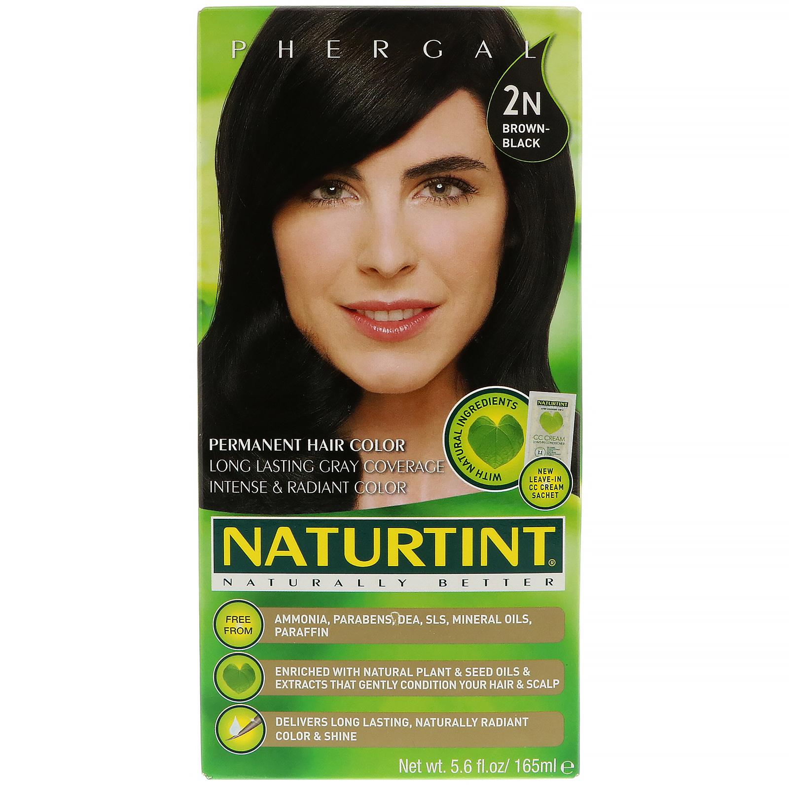 Naturtint Permanent Hair Color 2n Brown Black 56 Fl Oz 165 Ml