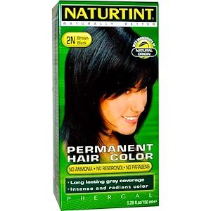 Naturtint, Стойкая краска для волос, 2N Темный каштан, 5,28 жидкой унции (150 мл) инструкция, применение, состав, противопоказания