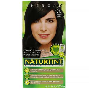 Натуртинт, Permanent Hair Color, 2N Brown-Black, 5.6 fl oz (165 ml) отзывы покупателей