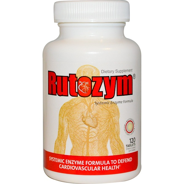 Naturally Vitamins, Rutozym, Systemic Enzyme Formula, 120 Enteric Coated Tablets (Discontinued Item)