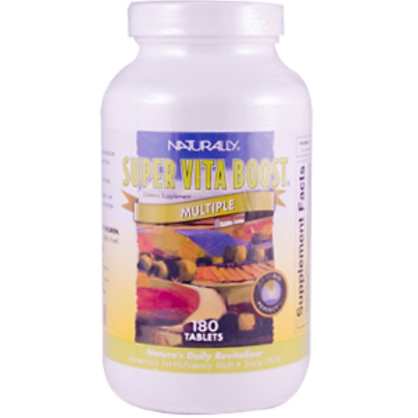 Naturally Vitamins, Super Vita Boost Multiple, 180 Tablets (Discontinued Item)