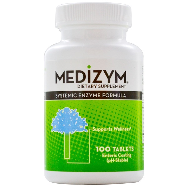 Naturally Vitamins, Medizym, Systemic Enzyme Formula, 100 Tablets (Discontinued Item)