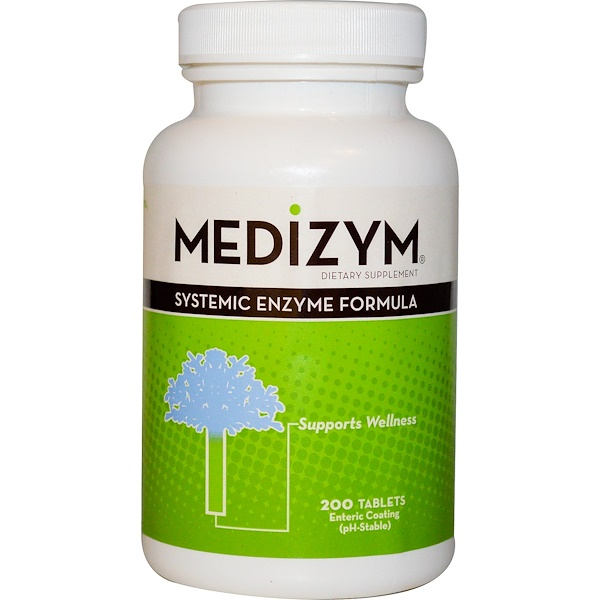 Naturally Vitamins, Medizym, Systemic Enzyme Formula, 200 Tablets (Discontinued Item)