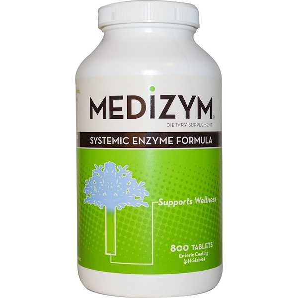Naturally Vitamins, Medizym, Systemic Enzyme Formula, 800 Tablets (Discontinued Item)