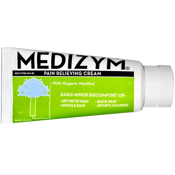 Naturally Vitamins, Medizym, Pain Relieving Cream, 2 oz (57 g) (Discontinued Item)
