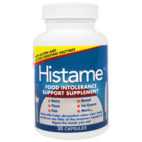 Naturally Vitamins, Histame, Food Intolerance Support Supplement, 30 Capsules