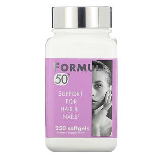 Naturally Vitamins, Formula 50, Support For Hair & Nails, 250 Softgels