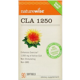 NatureWise, Конъюгированная линолевая кислота 1250, 90 капсул