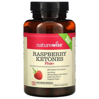NatureWise, Raspberry Ketones Plus+, 120 Vegetarian Capsules