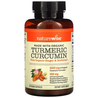 NatureWise, Turmeric Curcumin, 90 Vegan Capsules
