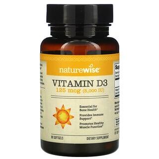 NatureWise, Vitamin D3, 5000 IU, 90 Softgels