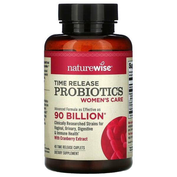 Time Release Probiotics, Women's Care, 40 Time Release Caplets