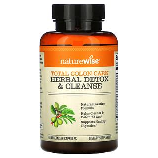 NatureWise, Total Colon Care, Herbal Detox & Cleanse, 60 Vegetarian Capsules