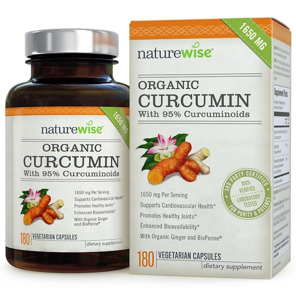 NatureWise, Organic Curcumin, 180 Veggie Capsules (Discontinued Item)