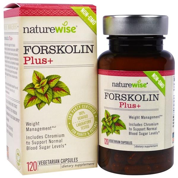 NatureWise, Forskolin Plus, 120 Veggie Capsules (Discontinued Item)