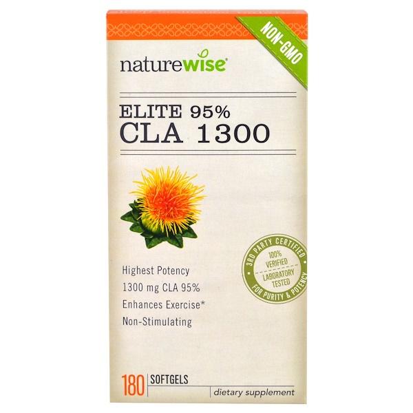 NatureWise, Elite 95% CLA 1300, 180 Softgels (Discontinued Item)