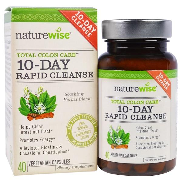 NatureWise, 10-Day Rapid Cleanse, 40 Veggie Capsules (Discontinued Item)