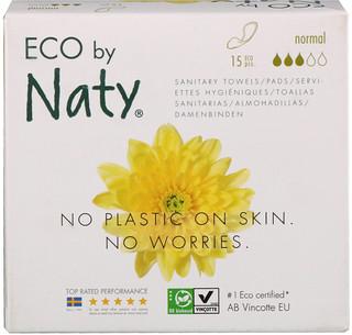 Naty, حفاضات رقيقة، عادية، 15 قطعة بيئية