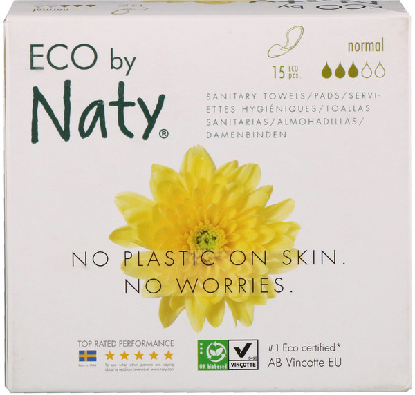 Thin Pads, Normal, 15 Eco Pieces