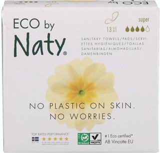 Naty, حفاضات رقيقة، سوبر، 13 قطعة بيئية