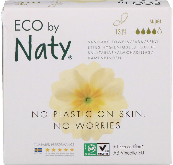 Naty, Thin Pads, Super, 13 Eco Pieces