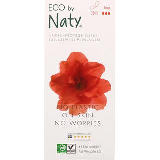 Naty, فوط نسائية للاستخدام اليومي، كبير، 28 قطعة صديقة للبيئة