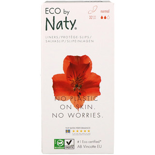 Naty, Panty Liners, Normal, 32 Eco Pieces