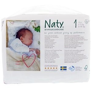 Нати, Diapers, Size 1, 4-11 lbs (2-5 kg), 26 Diapers отзывы