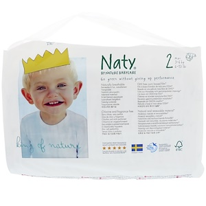 Нати, Diapers, Size 2, 6-13 lbs (3-6 kg), 34 Diapers отзывы