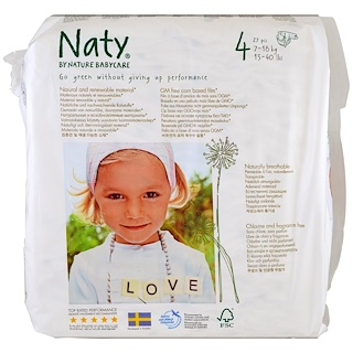 Naty, Diapers, Size 4, 15-40 lbs (7-18 kg), 31 Diapers