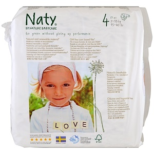 Нати, Diapers, Size 4, 15-40 lbs (7-18 kg), 31 Diapers отзывы
