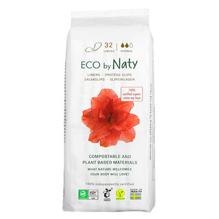 Naty, Panty Liners, Normal, 32 Liners