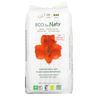 Naty, Panty Liners, Large, 28 Liners