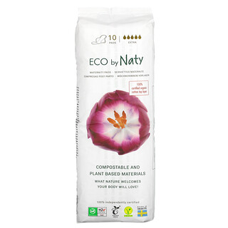 Naty, Maternity Pads, Extra, 10 Pads