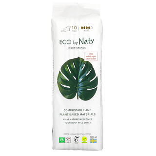 Naty, Incontinence Pads, Extra, 10 Pads