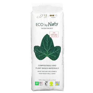 Naty,  Incontinence Pads, Normal, 12 Pads'