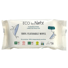 Naty, 可沖式濕巾,56 片