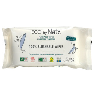 Naty, Flushable Wipes, 56 Wipes