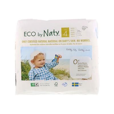 Naty Подгузники для чувствительной кожи, размер 4, 15-40 фунтов (7-18 кг), 26 подгузников  - купить со скидкой