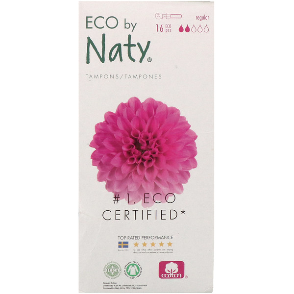 Naty, Tampons with Applicator, Regular, 16 Eco Pieces