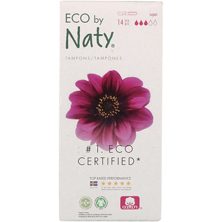Naty, Tampons with Applicator, Super, 14 Eco Pieces