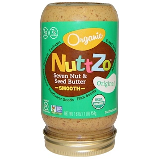 Nuttzo, Organic,  Seven Nut & Seed Butter, Smooth, Original, 16 oz (454 g)