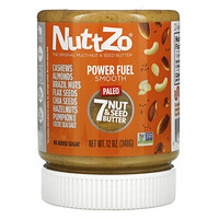 Nuttzo, Paleo Power Fuel, 7 Nut & Seed Butter, Smooth, 12 oz (340 g)