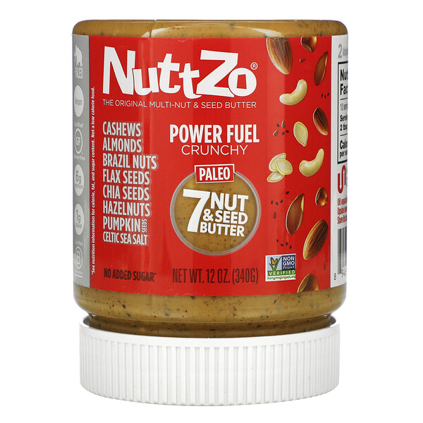 Paleo Power Fuel, 7 Nut & Seed Butter, Crunchy, 12 oz (340 g)