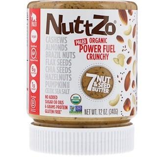 Nuttzo, オーガニック、パワー燃料、ナッツ&シードバター7、クランチー、12 oz (340 g)