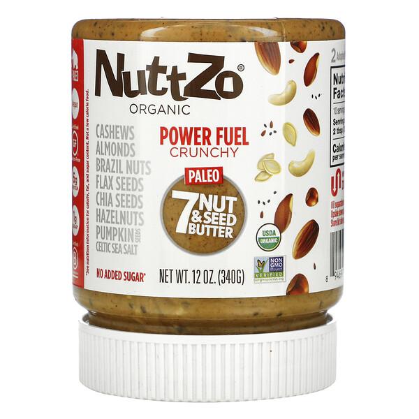 Organic, Power Fuel, 7 Nut & Seed Butter, Crunchy, 12 oz (340 g)