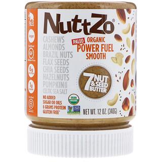 Nuttzo, Paleo Organic Power Fuel, Smooth, 12 oz (340 g)