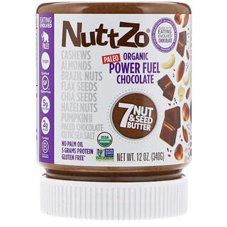 Nuttzo, Organic, Power Fuel, 7 Nut & Seed Butter, Chocolate, 12 oz (340 g)