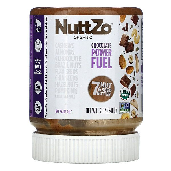 Nuttzo, Organic, Power Fuel, 7 Nut & Seed Butter, Chocolate, 12 oz (340 g)